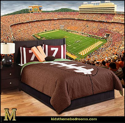 Touchdown by Hallmart Kids-sports bedroom wall mural-football theme bedding