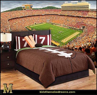Touchdown by Hallmart Kids-sports bedroom wall mural-football theme bedding